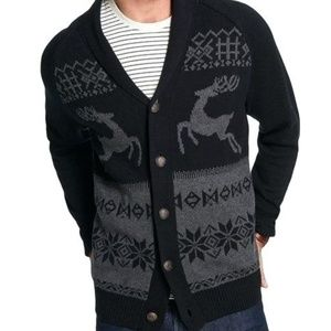 Weatherproof Jacquard Reindeer Boyfriend Cardigan